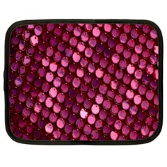 Red Circular Pattern Background Netbook Case (XXL)