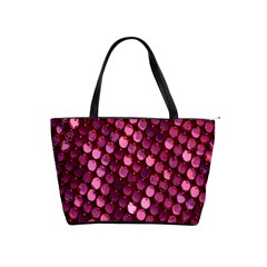 Red Circular Pattern Background Shoulder Handbags