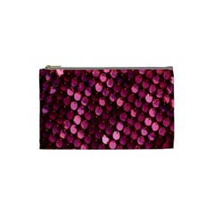 Red Circular Pattern Background Cosmetic Bag (Small)