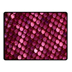 Red Circular Pattern Background Fleece Blanket (small)