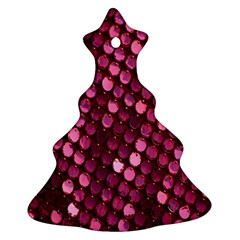 Red Circular Pattern Background Ornament (Christmas Tree)