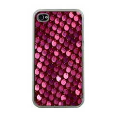 Red Circular Pattern Background Apple iPhone 4 Case (Clear)