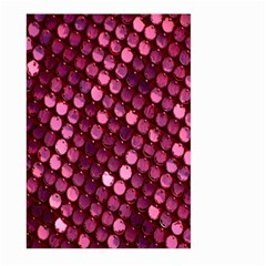 Red Circular Pattern Background Large Garden Flag (two Sides)