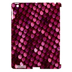 Red Circular Pattern Background Apple iPad 3/4 Hardshell Case (Compatible with Smart Cover)