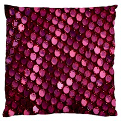Red Circular Pattern Background Large Cushion Case (Two Sides)