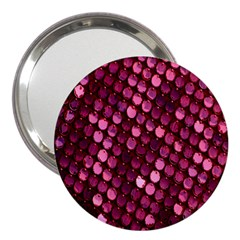 Red Circular Pattern Background 3  Handbag Mirrors