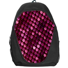 Red Circular Pattern Background Backpack Bag