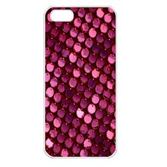 Red Circular Pattern Background Apple iPhone 5 Seamless Case (White)