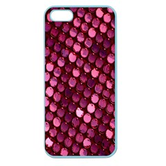 Red Circular Pattern Background Apple Seamless iPhone 5 Case (Color)
