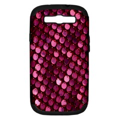 Red Circular Pattern Background Samsung Galaxy S III Hardshell Case (PC+Silicone)