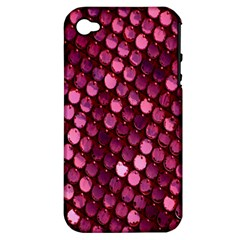 Red Circular Pattern Background Apple iPhone 4/4S Hardshell Case (PC+Silicone)