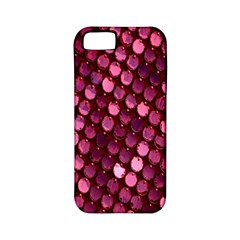 Red Circular Pattern Background Apple Iphone 5 Classic Hardshell Case (pc+silicone)