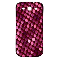 Red Circular Pattern Background Samsung Galaxy S3 S III Classic Hardshell Back Case
