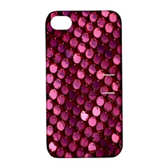 Red Circular Pattern Background Apple iPhone 4/4S Hardshell Case with Stand