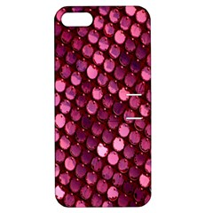 Red Circular Pattern Background Apple iPhone 5 Hardshell Case with Stand