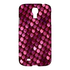 Red Circular Pattern Background Samsung Galaxy S4 I9500/I9505 Hardshell Case