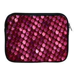 Red Circular Pattern Background Apple Ipad 2/3/4 Zipper Cases