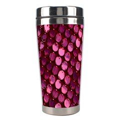 Red Circular Pattern Background Stainless Steel Travel Tumblers