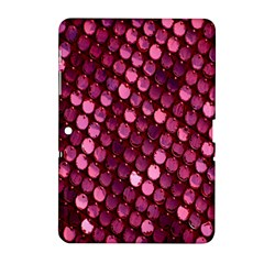 Red Circular Pattern Background Samsung Galaxy Tab 2 (10.1 ) P5100 Hardshell Case