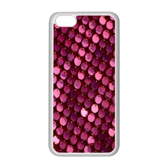 Red Circular Pattern Background Apple iPhone 5C Seamless Case (White)