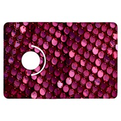 Red Circular Pattern Background Kindle Fire HDX Flip 360 Case