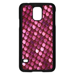 Red Circular Pattern Background Samsung Galaxy S5 Case (Black)