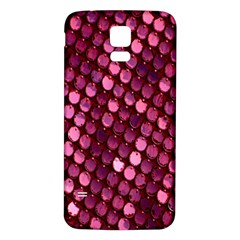 Red Circular Pattern Background Samsung Galaxy S5 Back Case (White)