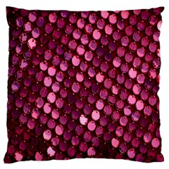 Red Circular Pattern Background Large Flano Cushion Case (Two Sides)