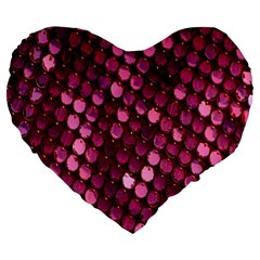 Red Circular Pattern Background Large 19  Premium Flano Heart Shape Cushions