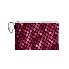Red Circular Pattern Background Canvas Cosmetic Bag (s)