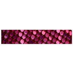Red Circular Pattern Background Flano Scarf (Small)