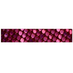 Red Circular Pattern Background Flano Scarf (Large)