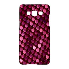 Red Circular Pattern Background Samsung Galaxy A5 Hardshell Case