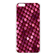 Red Circular Pattern Background Apple Seamless iPhone 6 Plus/6S Plus Case (Transparent)