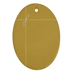 Brown Paper Packages Ornament (Oval)