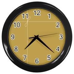 Brown Paper Packages Wall Clocks (Black)