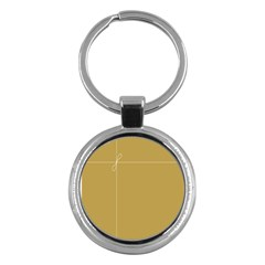 Brown Paper Packages Key Chains (round)