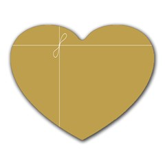 Brown Paper Packages Heart Mousepads