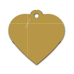Brown Paper Packages Dog Tag Heart (two Sides)