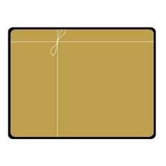 Brown Paper Packages Fleece Blanket (Small)