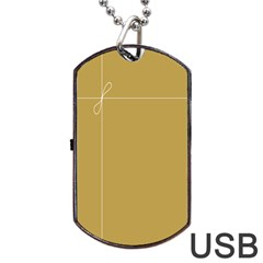 Brown Paper Packages Dog Tag USB Flash (One Side)