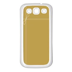 Brown Paper Packages Samsung Galaxy S3 Back Case (White)
