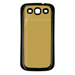 Brown Paper Packages Samsung Galaxy S3 Back Case (Black)