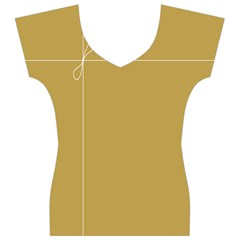 Brown Paper Packages Women s V-Neck Cap Sleeve Top