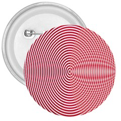 Circle Line Red Pink White Wave 3  Buttons