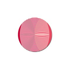 Circle Line Red Pink White Wave Golf Ball Marker (4 pack)