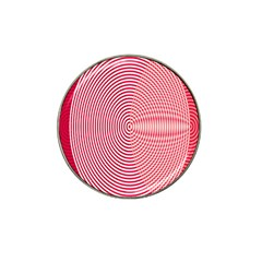Circle Line Red Pink White Wave Hat Clip Ball Marker (10 Pack)