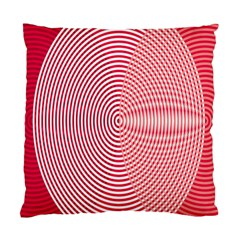 Circle Line Red Pink White Wave Standard Cushion Case (One Side)