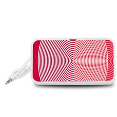 Circle Line Red Pink White Wave Portable Speaker (White)