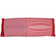 Circle Line Red Pink White Wave Body Pillow Case Dakimakura (Two Sides)